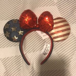Minnie ears Americana Stars and Stripes July 4